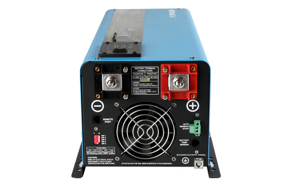 Prime low frequency pure sine wave inverter charger 6000W rear view